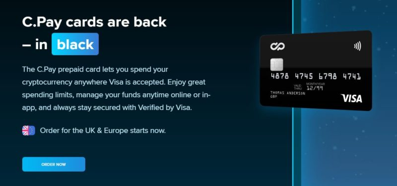 cPay black cards