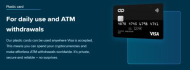 cryptopay plastic card