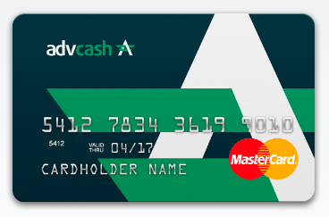 AdvCash bitcoin debit card