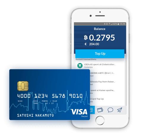 Bitwala bitcoin debit card
