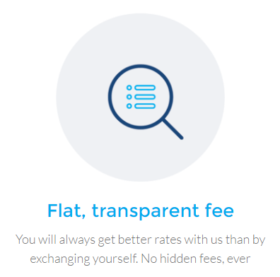 Bitwala flat and transparent fees