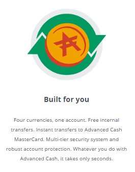 AdvCash built for you