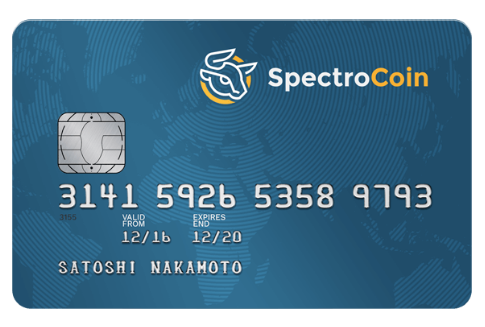 Spectrocoin bitcoin debit card