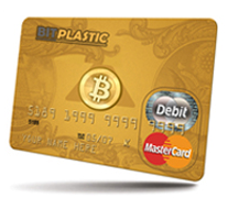 Bitplastic bitcoin debit card