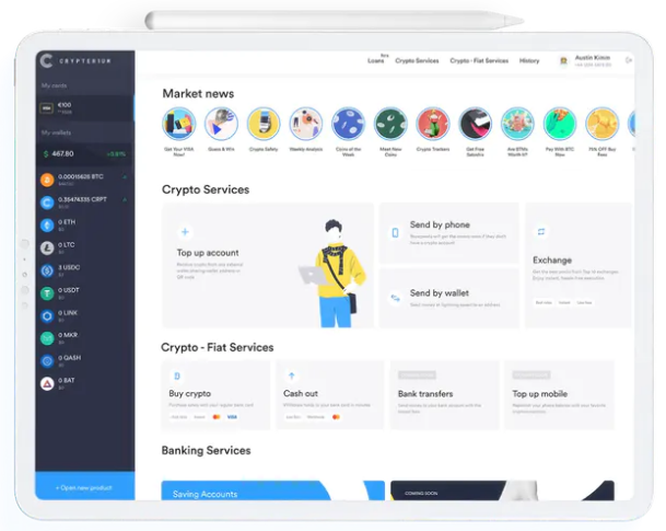crypterium browser application
